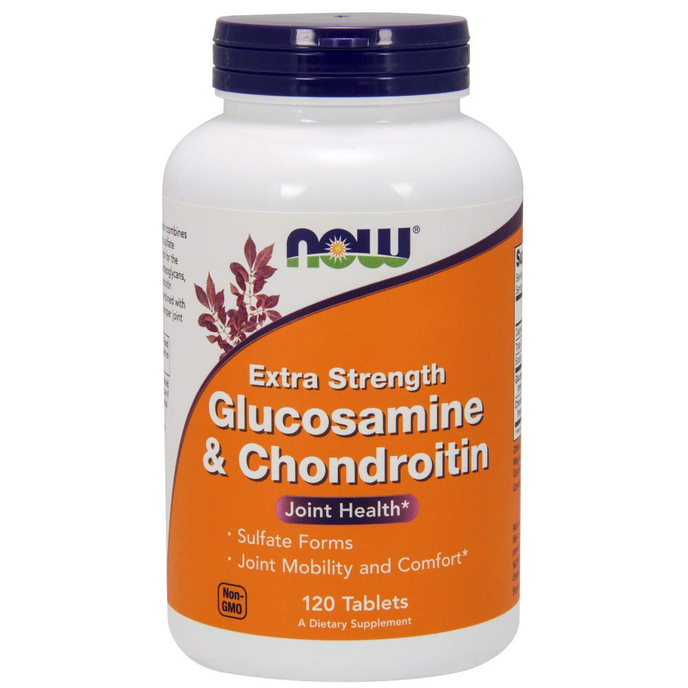 Now Supplements, Glucosamine & Chondroitin Extra Strength, Sulfate Forms, 120 Tablets by NOW Foods