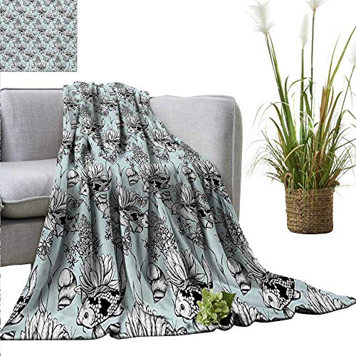 homehot Shabby Chic Reversible Blanket Vintage Monochrome Po