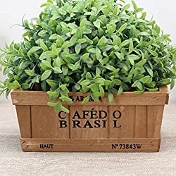Jarsh 3 Sizes Square Wooden Planter Pot Garden Window Box Trough Planter Succulent Flower Bed Pot (A(20208cm))