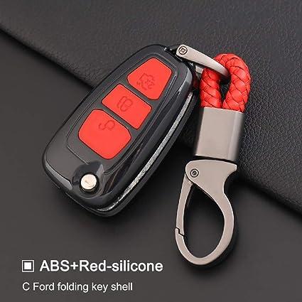 ZYTN Flip Remote Car Key Case Funda de Silicona de Fibra de ...