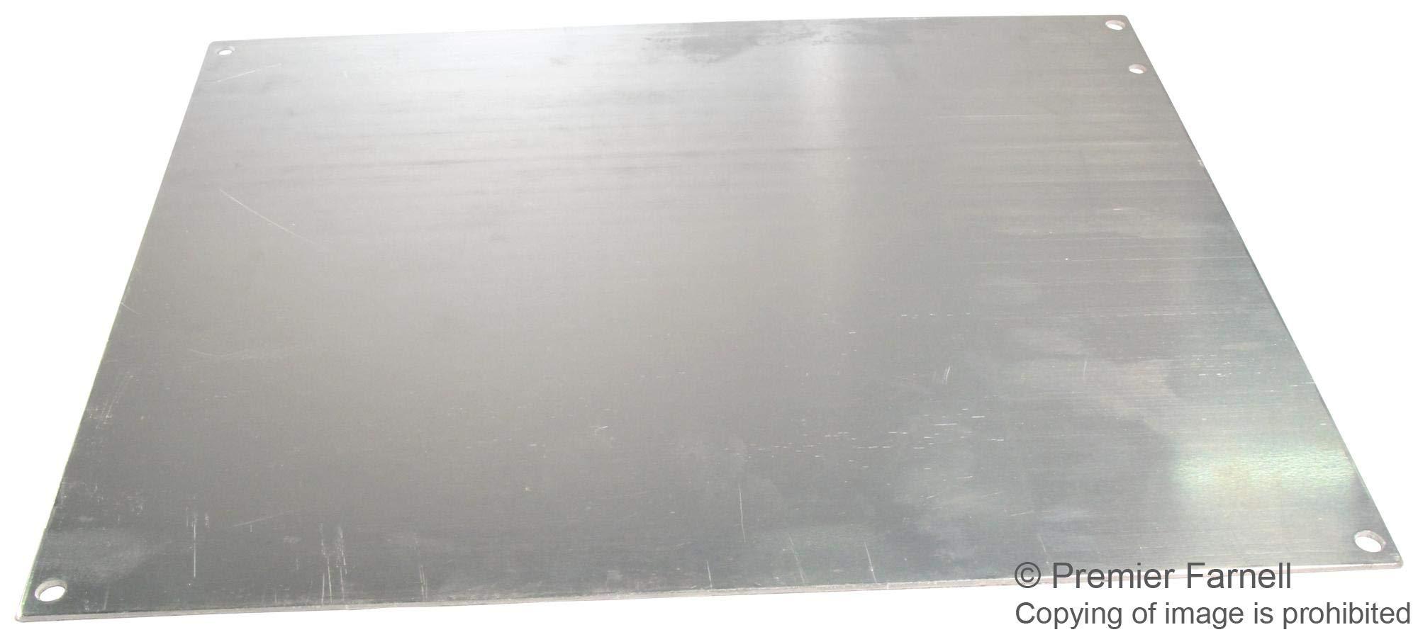A-14P12AL - Panel, 0.080 2mm thick, Aluminium, White, Junction Boxes, 324 mm, 276 mm (A-14P12AL)