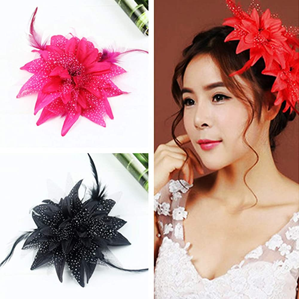 Song Qing Fascinator Flower Hair Clip Pin Brooch Corsage Party Hairband