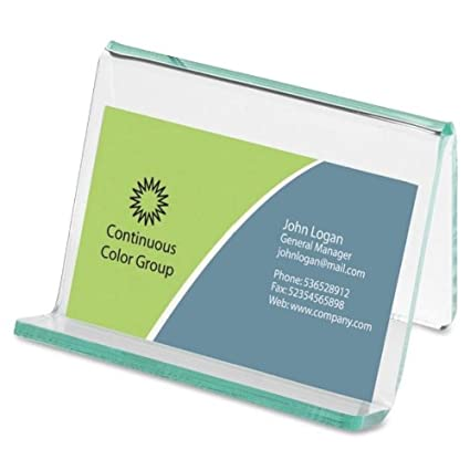 Amazon lorell business card holder cleargreen briefcases lorell business card holder cleargreen colourmoves
