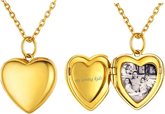 Heart Personalized Gold Plated Pendant Necklace