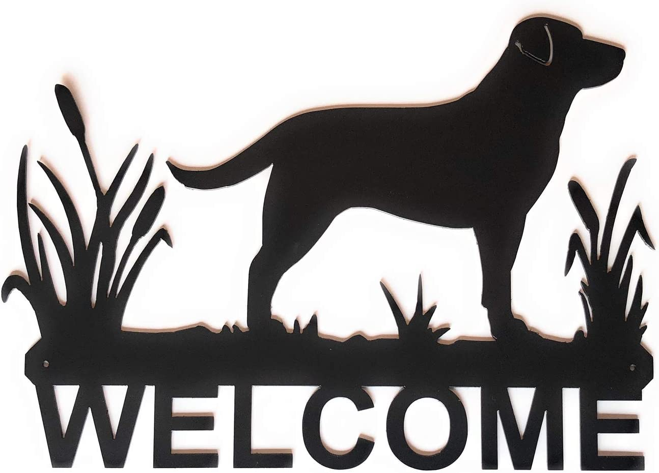 """Eagle Eye Products LLC Lab in Cattails Welcome Sign 