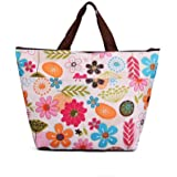 Thermal Insulated Lunch Storage Bags For Men And Women EUzeo Colorful Flowers Portable Lunch Tote Waterproof Oxford fabric Lunch Package With Zipper Clearance Sale