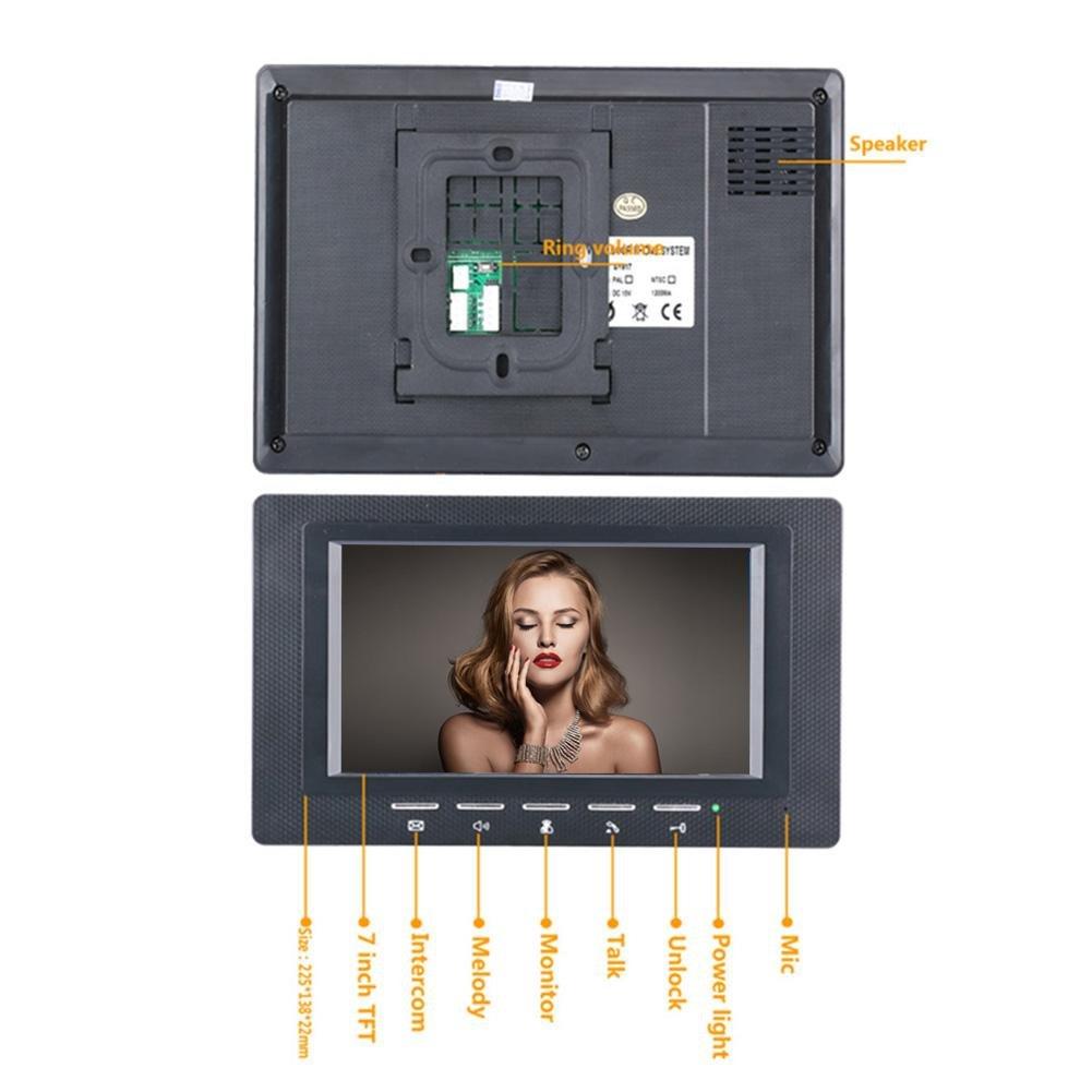 Awakingdemi 7 Inch Video Door Phone Doorbell Intercom 1-camera 1-monitor Night Vision by Awakingdemi (Image #5)