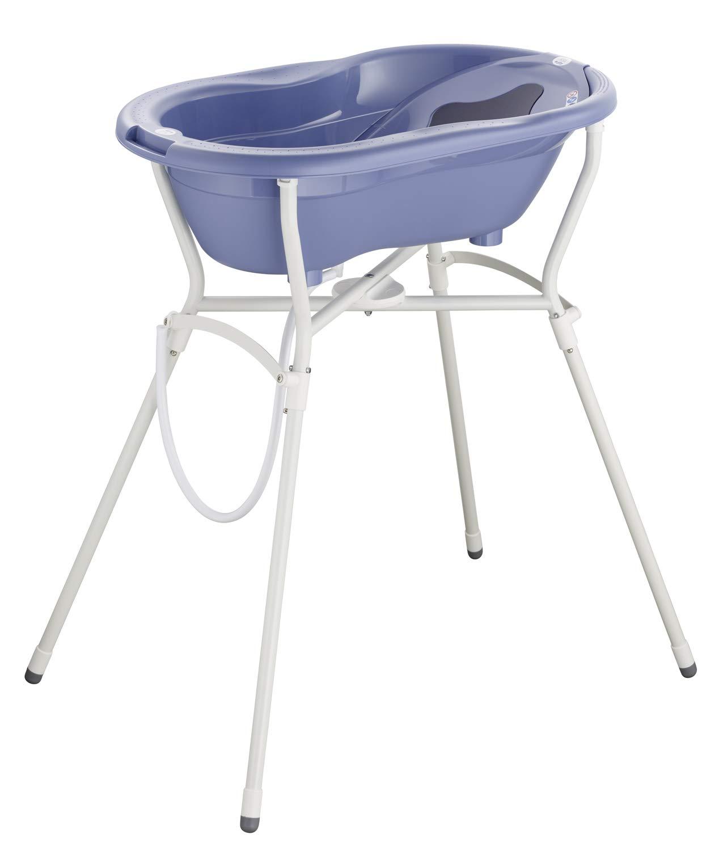Blau TOP Max 25kg ab 0 Monaten 21060 0287 01 Rotho Babydesign Komplett-Badeset mit Wanne und Klapp-St/änder Cool Blue