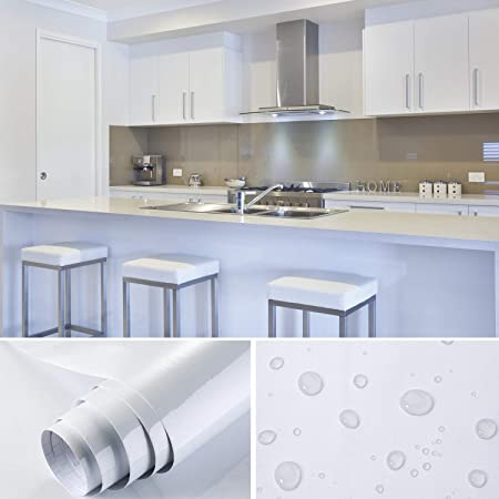 Soldgood 5 5 0 61m Blanc Papier Peint Autocollant Rouleau Adhesif