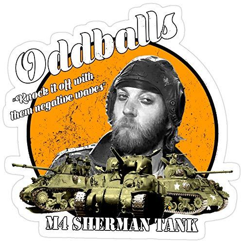 Jess-Sha Store 3 PCs Stickers Oddball : Kelly's Heroes, oddball Sticker for Laptop, Phone, Cars, Vinyl Funny Stickers Decal for Laptops, Guitar, Fridge