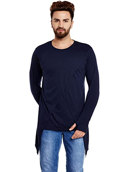 8b1c8607c5551 Chill Winston Men s Cotton Long Sleeves Overlap Thumb Insert T-Shirt (Navy  Blue,