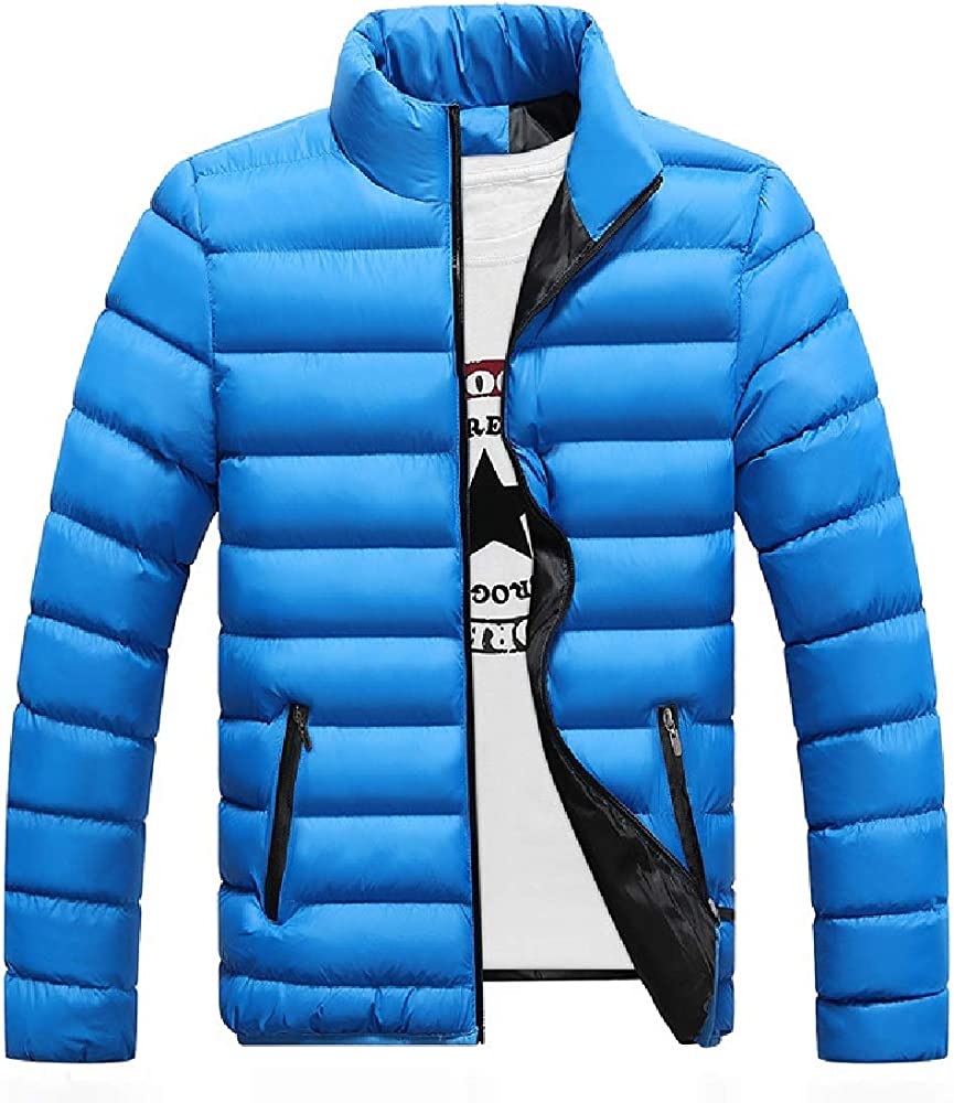 MOUTEN Mens Slim Fit Winter Thickened Warm Zipper Down Quilted Coat Jacket Outerwear