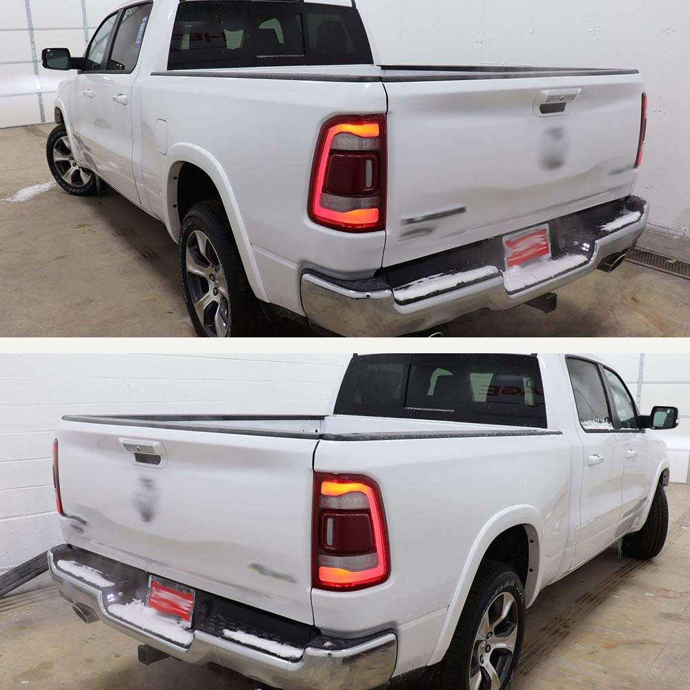 Tailgate Spoiler Molding Cap Fit For 2009-2018 Dodge Ram 1500 Pickup /& 2010-2018 Ram 2500//3500 Truck Tail Gate Bed Lip Cover Top Edge Guard Protector