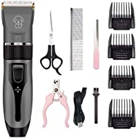 Pet Charging Electric Clippers,Pet Electric Shaver Cat and Dog Electric Hair Clipper,Dog Professional Beauty Trim Set…