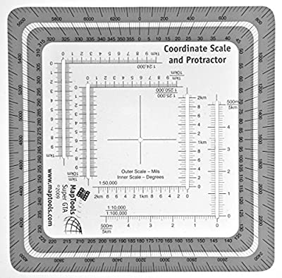 Improved Military Style MGRS/UTM Coordinate Grid Reader, and Protractor