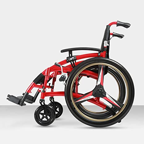 Amazon.com: Limiss Sports silla de ruedas portátil plegable ...