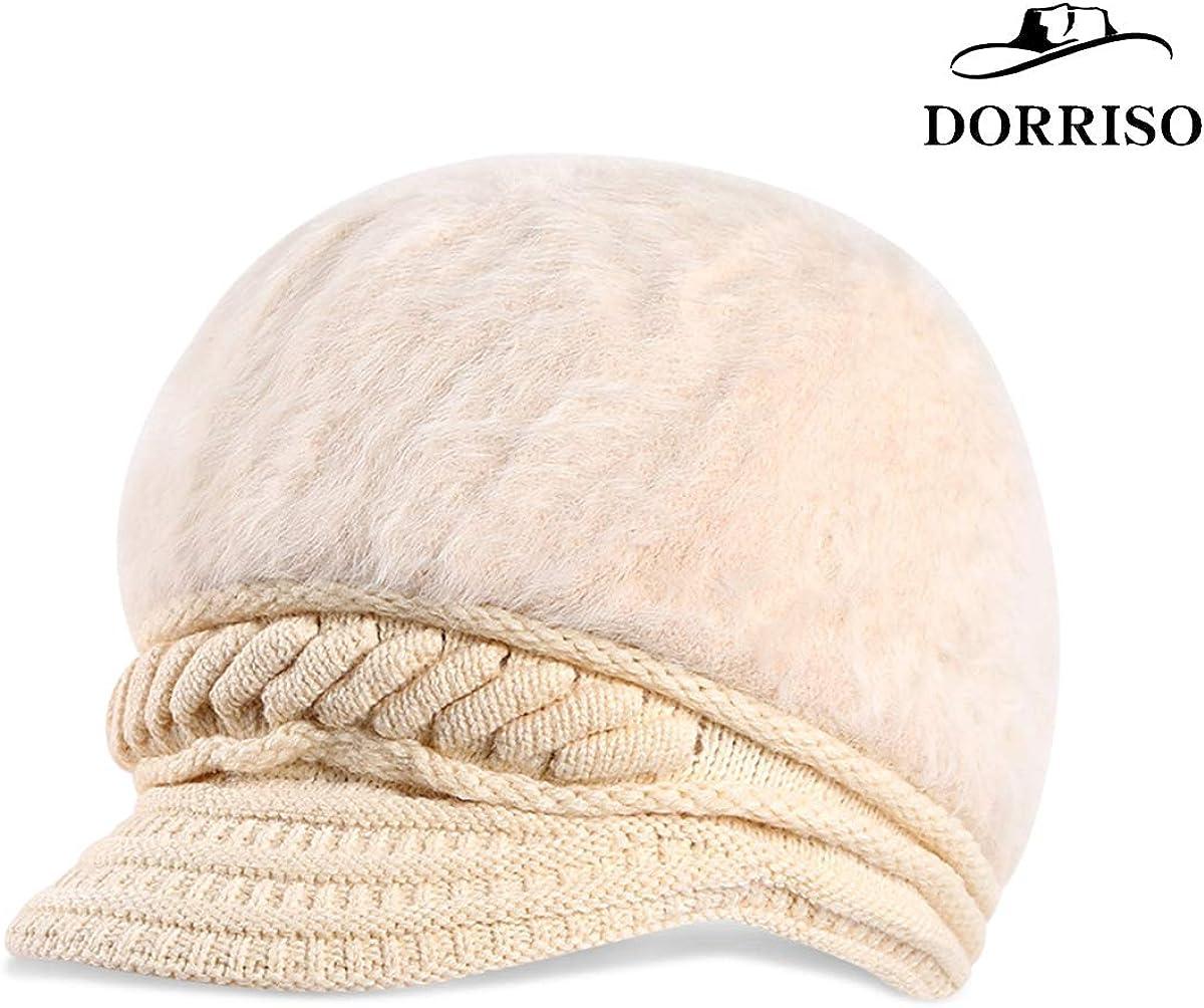 DORRISO Mode Femme B/éret Basque Chapeau Fran/çais Style Automne Hiver Chaud Loisir Vacances Voyage B/éret Laine