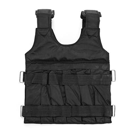 5aa4b7072f1 Adjustable Weight Vest 44lbs Workout Weighted Vest Comfortable Exercise  Training Fitness