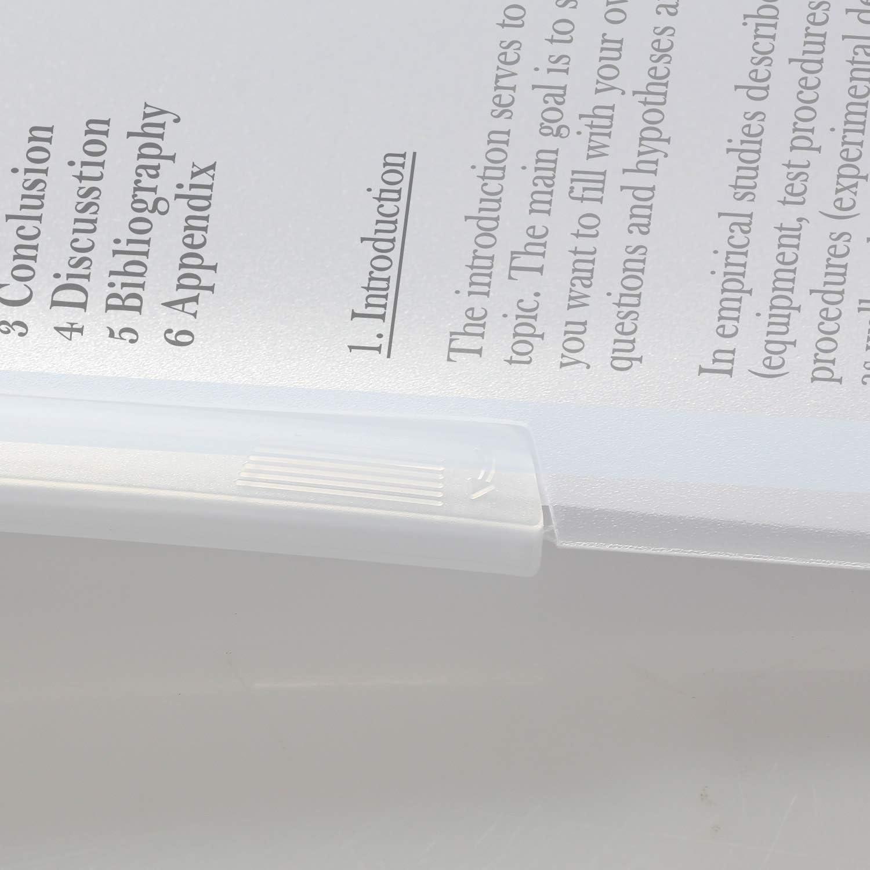 30 Blatt je Sichthefter TUKA-i-AKUT 25st TKD8028-25x Schwenkbarer Clip Ordner 25er Set in 5 Farben PP Klemmmappe A4 Transparent Bericht Abdeckungen Side Swivel Stange Binder Clip-Hefter Halter