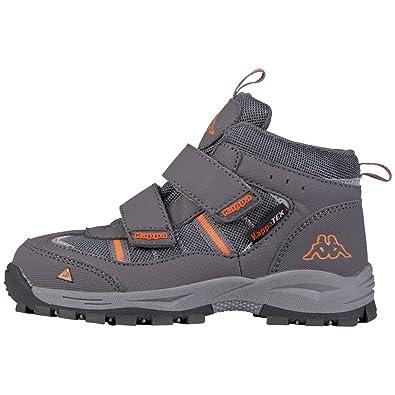 Kappa Action Tex T Footwear Teens - Botas Unisex para Niños, Color Gris (1344 Anthra/Orange), Talla 38