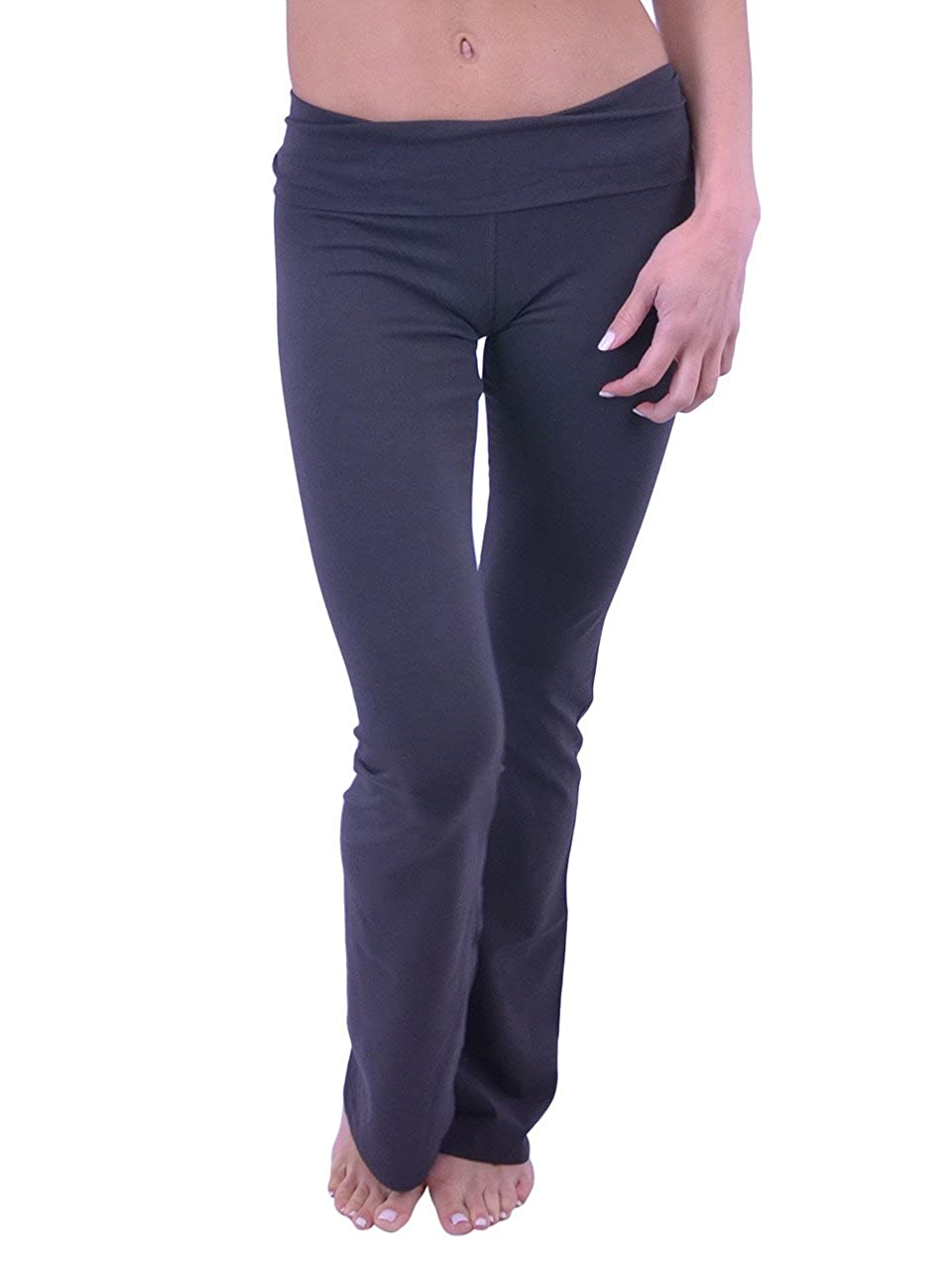 Vivian's Fashions Yoga Pants - Extra Long (Misses and Misses Plus Sizes) PP8150T