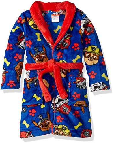 Nickelodeon Toddler Boys' Paw Patrol Luxe Plush Robe, Super Blue, - Store Boston Kids