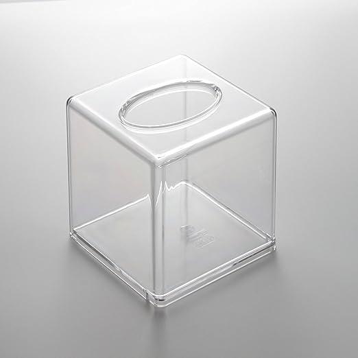 Transparente Acrílico Transparente Caja de pañuelos cover: Amazon ...