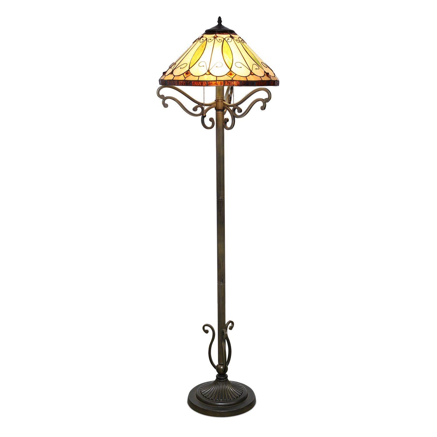 1908 Studios Arroyo Tiffany Floor Lamp