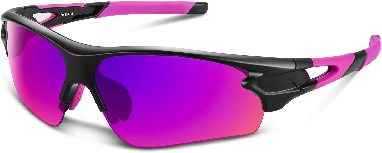 Gafas De Sol Hombre Mujer Polarizadas Ciclismo Deportivas Redondas Correr Golf Beisbol Surf Conducción Esquiando UV400 Protección