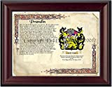 Prandin Coat of Arms/ Family Crest on Fine Paper and Family History