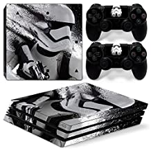 Ps4 PRO Playstation 4 Console Skin Decal Sticker Star Wars Stormtrooper + 2 Controller Skins Set (PRO Only)