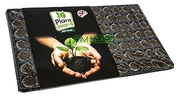 Planta mágica 84 cubo tapones de turba y bandeja para la propagación jardín hidropónico