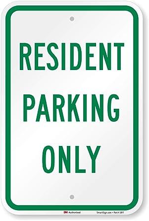 smartsign Parking Sign, Legend