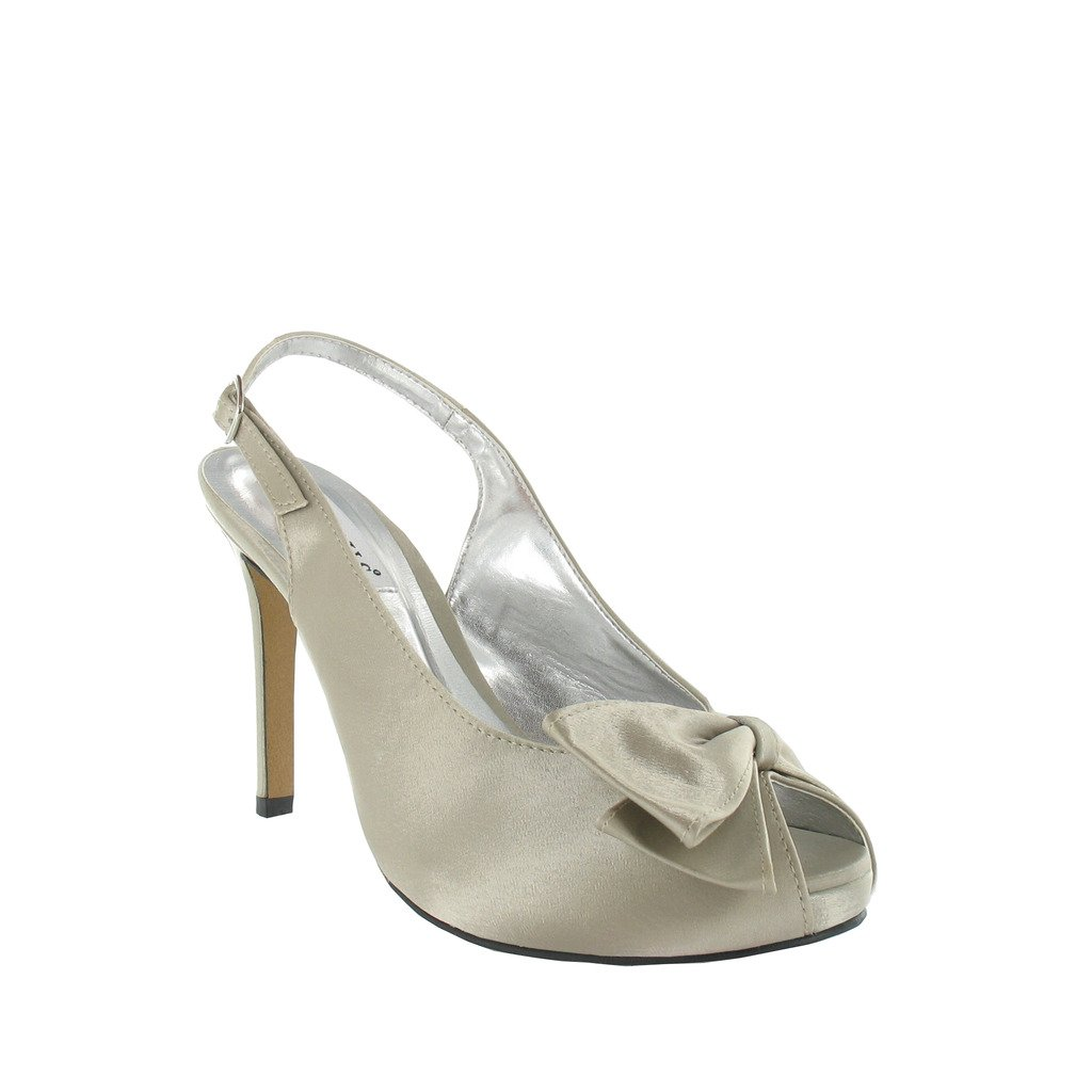 Ladies Platform Slingback Sandal with Bow Trim, ideal for for for Party, prom, Evening 571067