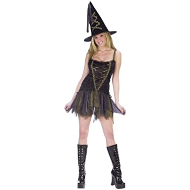 Sexy Flirty Witch Adult Costume - Small/Medium  sc 1 st  Amazon.com : witch corset costume  - Germanpascual.Com