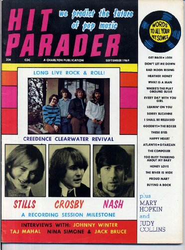 Cream Magazine (Hit Parader Magazine CREEDENCE CLEARWATER REVIVAL The Cream CSN Johnny Winter HOLLIES NINA SIMONE Dells CROSBY STILLS & NASH September 1969 C (Hit Parader Magazine))