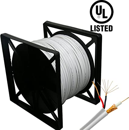 HDView 500ft UL Listed Certified, 95% Copper Braid, Siamese Coaxial RG59 Cable Wire