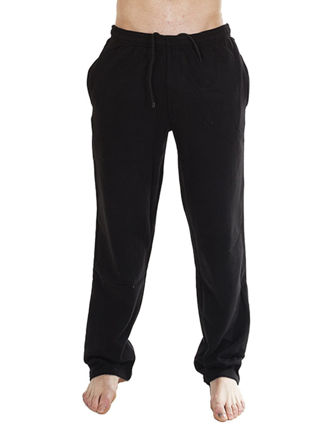 Mens Jogging Fleece Bottoms Joggers Casual Trousers Open Hem