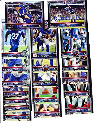 2015 Topps Football New York Giants team set - Beckham Jr, Manning shipped in an acrylic case with all rookie cards