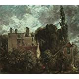 Canvas Prints Of Oil Painting 'John Constable- The Grove, Or The Admiral's House In Hampstead,1822' 16 x 18 inch / 41 x 46 cm , Polyster Canvas Is For Gifts And Bed Room, Kitchen And Study decoration