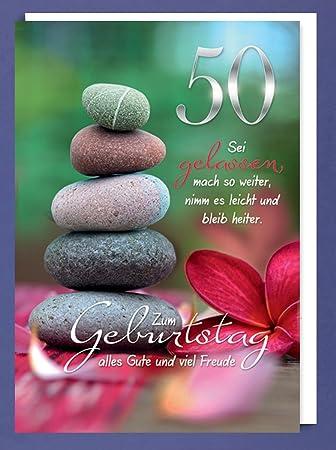 Riesen 50 Geburtstag Karte Grusskarte Wegfinder Steine Gluckwunsch A4