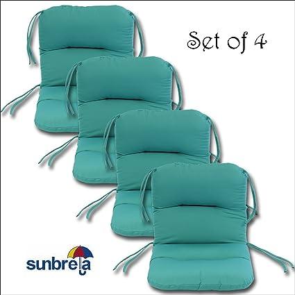 Beau Set Of 4 Outdoor Chair Cushions 20 X 36 X 3 H 19 In Sunbrella