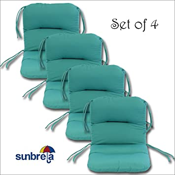 Awesome Set Of 4 Outdoor Chair Cushions 20 X 36 X 3 H 19 In Sunbrella