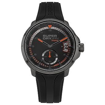 Quarz Silikon Analog Herren Mit Superdry Uhr Armband Syg217bb kOZiXuTP