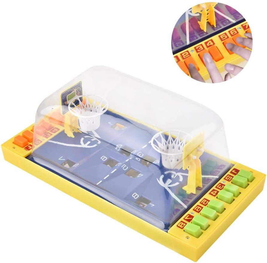 Mesa de juego de baloncesto, Juguete de desarrollo Mini Dedo Baloncesto Disparos Juguete educativo de interacción entre padres e hijos: Amazon.es: Bebé