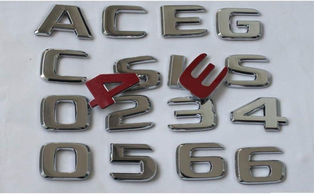 Chrome Trunk Letters Number Badges Emblems vitesurz for Mercedes Benz A B C E G S GLS GLE CLS CLA Class AMG 4MATIC 2017-2020