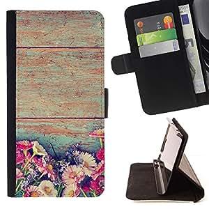 Momo Phone Case / Flip Funda de Cuero Case Cover - Rústico Flores florales Sun Inicio - Sony Xperia Z2 D6502