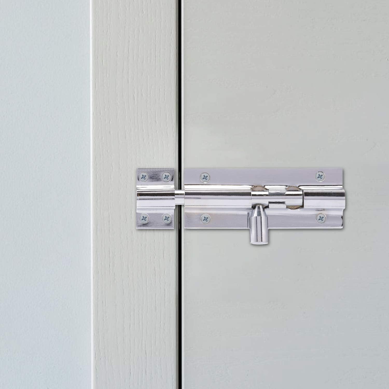Barrel Bolt Door Locks Brass or Chrome Straight  Door Bolts free uk p+p