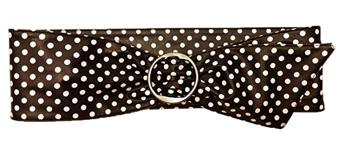 Vintage Wide Belts, Cinch Belts Polka Dot Retro Cinch Belt - 4 Wide $10.00 AT vintagedancer.com