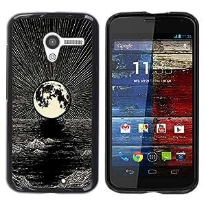 Be Good Phone Accessory // Dura Cáscara cubierta Protectora Caso Carcasa Funda de Protección para Motorola Moto X 1 1st GEN I XT1058 XT1053 XT1052 XT1056 XT1060 XT1055 // Moon Penci